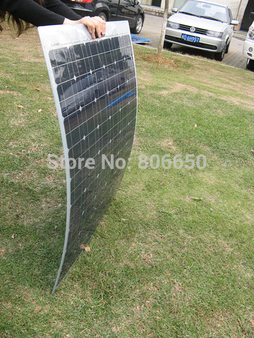 1000W 10*100w semi flexible solar panels, 100watt portable mono solar modules(China (Mainland))