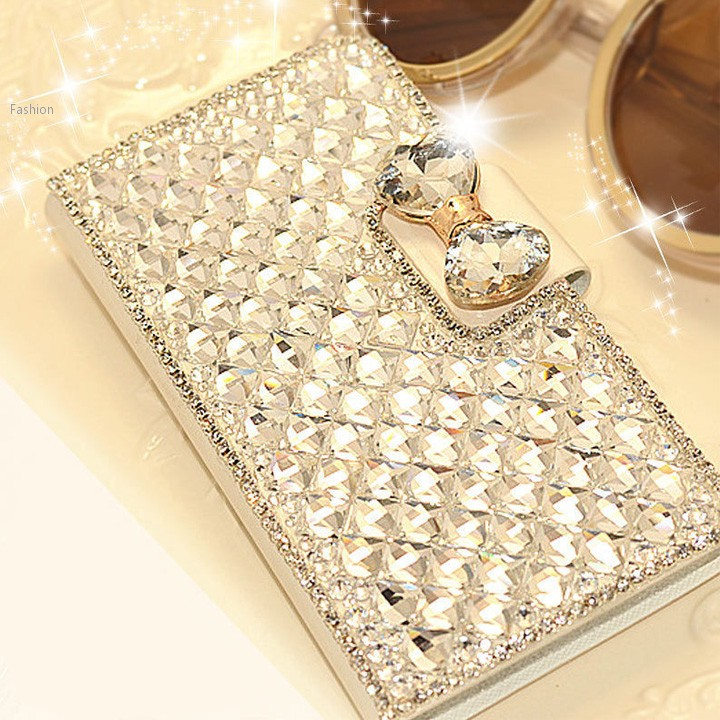 2015 New Fashion Rhinestone Synthetic Leather Case For iPhone 6 4S 5S 5C For Samsung Note3 Note4 S3 S4 S5 10(China (Mainland))
