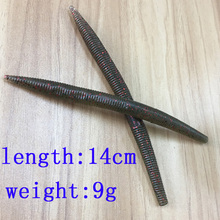 Buy 10pcs 14cm 9g Soft Fishing Lure Sinking Soft Lures Plastic Fishing Baits Worms Nightcrawler Paddle Tail Worms Bass Fishing Lure for $15.00 in AliExpress store