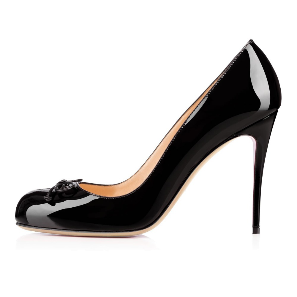 Aibarbie 2016 Ladies Women Handmade Fashion Faronessa 100mm Closed Toe Butterfly Patent High Heel Pumps Shoes