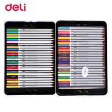 Buy Deli Professional color Pencils Set Drawing Painting 48 Colors Sketch Tin Box Art School artist Supplies colour pencil for $21.13 in AliExpress store