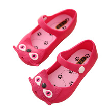 Mini Melissa brand kids Sandals 2015 New Plain rain boots For girl Summer Jelly Little Children
