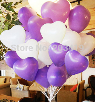 pearl heart shape 12inch=30cm colorful Latex Balloons Birthday Wedding Party Decoration can pick 9 color whcn+ - China RUI International Trade Corporation store
