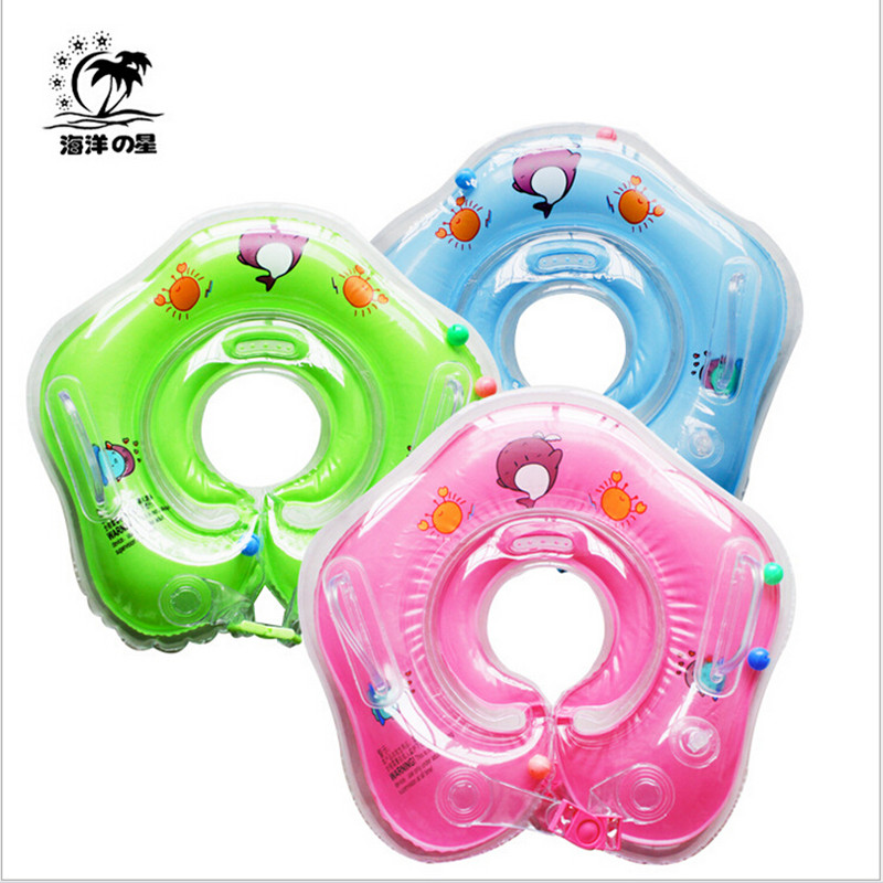 New Infant Baby Lap Swimming Baby Neck Float Rubber Ring Inflatable PVC Swimming Circle Neck Swimtrainer Infant Swim Accessories(China (Mainland))