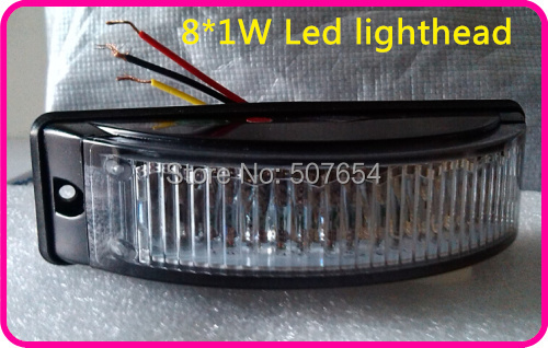 Free shipping! Super bightness DC12V-24V LINEAR 8W surface mounting led headlights,Led flash lightheads ,19flash pattern<br><br>Aliexpress