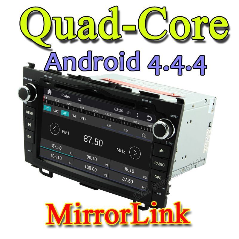 1024*600 Android 4.4 car dvd player gps for Honda CR-V 2006 2007 2008 2009 2010 2011 3G Touch Screen Bluetooth DVD MP3/MP4 audio(China (Mainland))