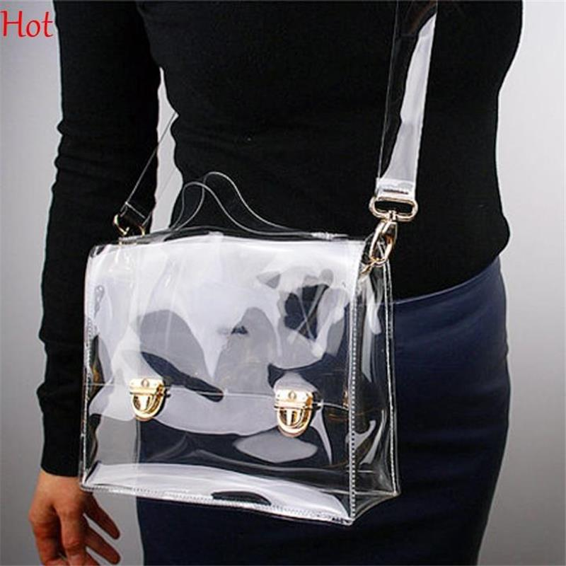 Outdoor PVC Transparent Bags Women Shoulder Box Bag Waterproof Crossbody Women Messenger Bags Clear Phone Clutch Bags SV016244(China (Mainland))
