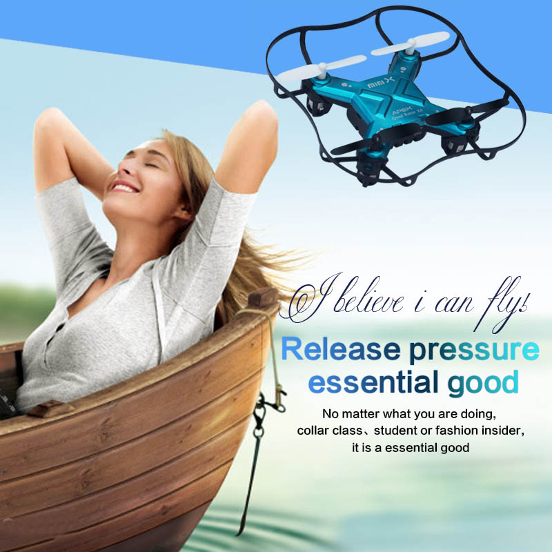 the best mini RC quadcopter Apex 2.4G Wireless controller, 3D stunt 6 axis 3 speed modes crashing resisted(China (Mainland))