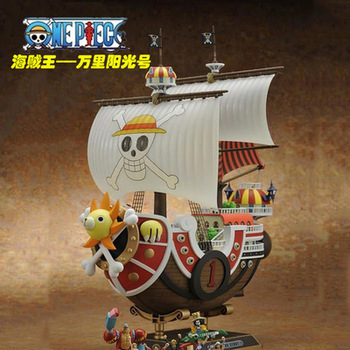 Anime One Piece Thousand Sunny Pirate ship Model PVC Action Figure Collectible Toy 35CM(China (Mainland))