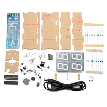 Wholesale DIY 4 Digit LED Electronic Clock Kit Temperature Light Control Version(China (Mainland))