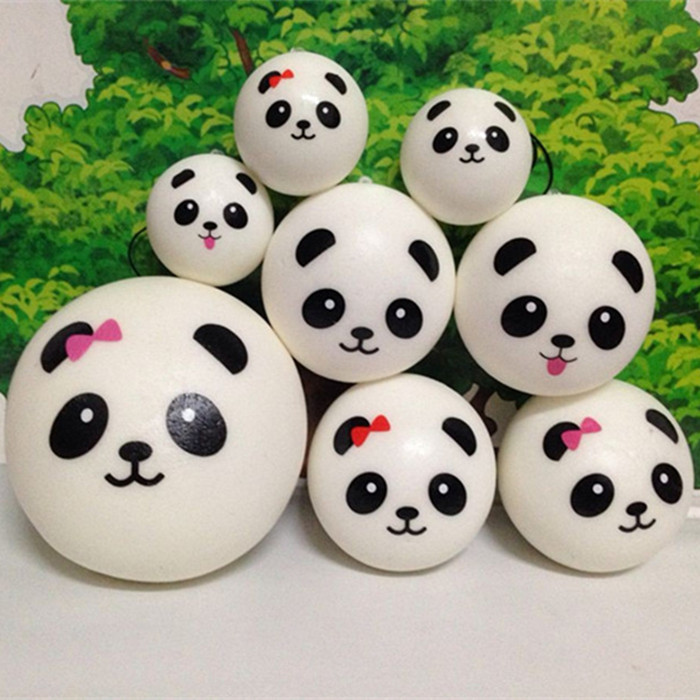 wholesale 60pcs/lot 4cm 7cm 10cm kawaii soft scented squishy jumbo panda slow rising squeeze bun toy phone charm squishies bread(China (Mainland))
