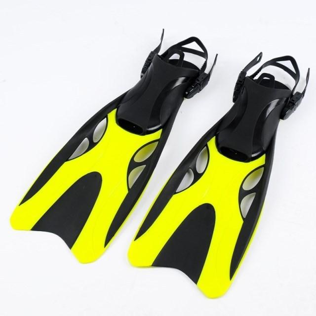 Adjustable Adult Submersible Long Fins Snorkeling Flipper Submersible Swimming Snorkel Diving Fins Fcs