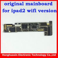 1pcs free shipping original unlocked mainboard with chips for ipad 2 wifi version Motherboard for apple system board 100% work