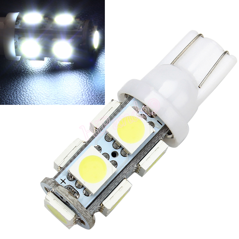 Car-styling 2pcs T10 194 168 W5W 9 LED 5050 SMD White Auto Wedge Side Tail Parking Lights Bulb Lamp DC12V auto accessories #HP(China (Mainland))