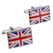 Cufflinks Retail National flag m word flag style cufflinks nail sleeve 156726 free shipping+free gift box(China (Mainland))