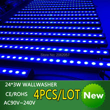 Buy 4pcs/lot waterproof 24*3W LED 3 in1 wallwasher light DMX512 disco dj wedding RGB stage effect Wash light Professional Stage for $600.00 in AliExpress store