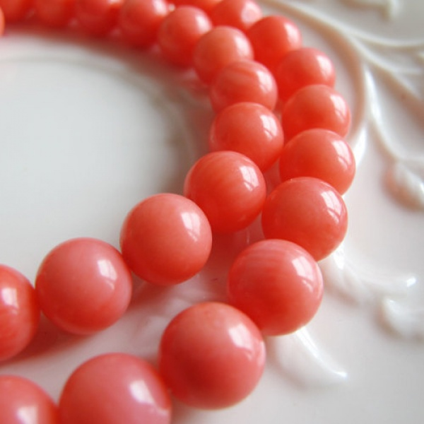 50pcs Bamboo coral beads pink 8mm round coral beads(China (Mainland))