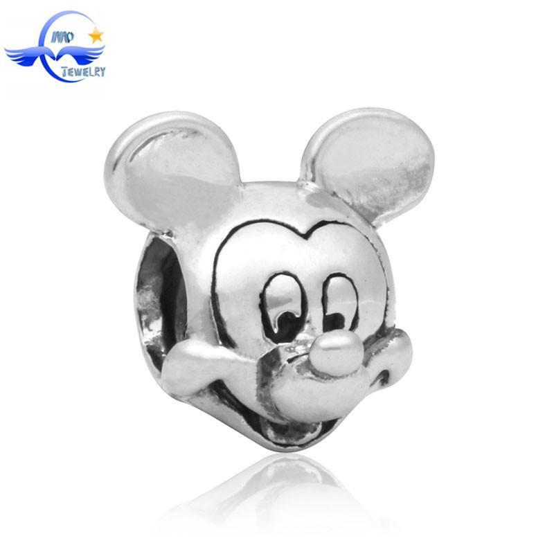 Гаджет  Free Shipping 1PC Large Hole Silver Beads Cute Mouse Charms Fits DIY Pandora Charm Bracelet Jewelry None Ювелирные изделия и часы