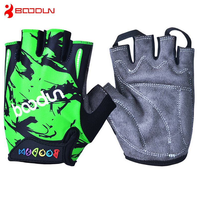 Cycling Half Finger Kid Bike Bicycle Sports Gloves Child Cycling Gloves For kids Children Boy Girl Free shipping(China (Mainland))