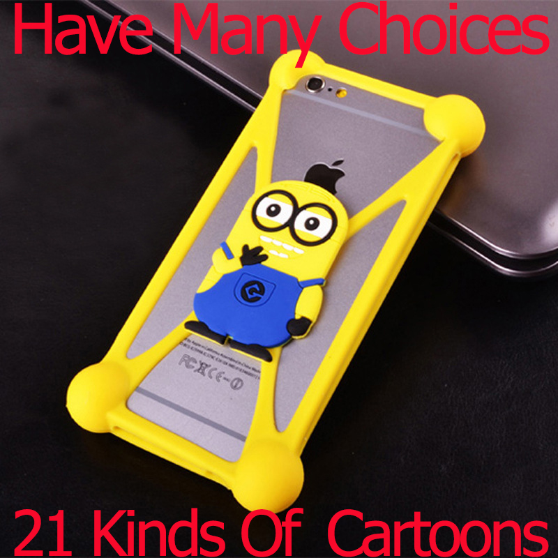Universal 3D Cartoon Soft Silicon Rubber Case For Sony Xperia Z2 Z3 Z4 Z5 M2 T3 iPhone 6 6S Lenovo P780 S850 Case(China (Mainland))