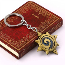 Fashion 3D Hearthstone Keychains Heroes Of Warcraft Key Chains Ring Top Grade Best Friend Vintage Metal Keychain For Fans(China (Mainland))