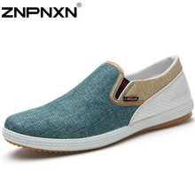 Flats Men Shoes Summer Man's Canvas Shoes Fashion Sneake Casual Loafers Men Slip On Zapatos Hombre