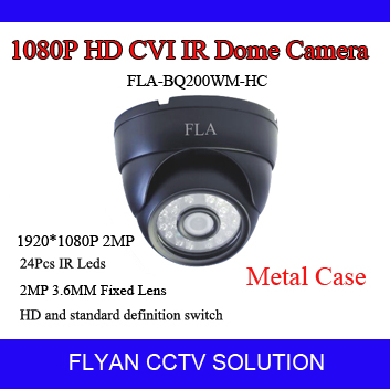 2 megapixel 1080p full hdcvi security DH9801 Chipset cmos 1/2.8'' OV2710 mini dome camera IR cut night vision D-WDR OSD