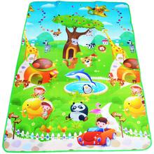 Baby Play Mat 180*120*0.5cm Double Side Dinosaur+Animal Car Children Floor Carpet Kids Crawling Rugs Baby Game Pad Gym Cushion(China (Mainland))