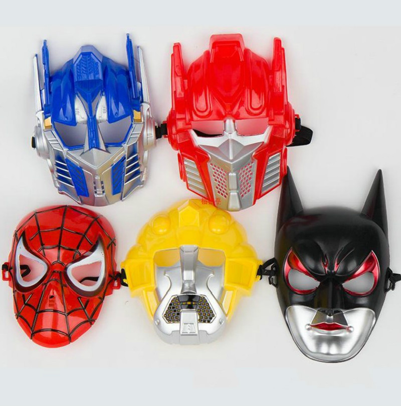 Halloween Mask Transformers Batman Spider Man Mask Optimus Prime Bumblebee children mask(China (Mainland))