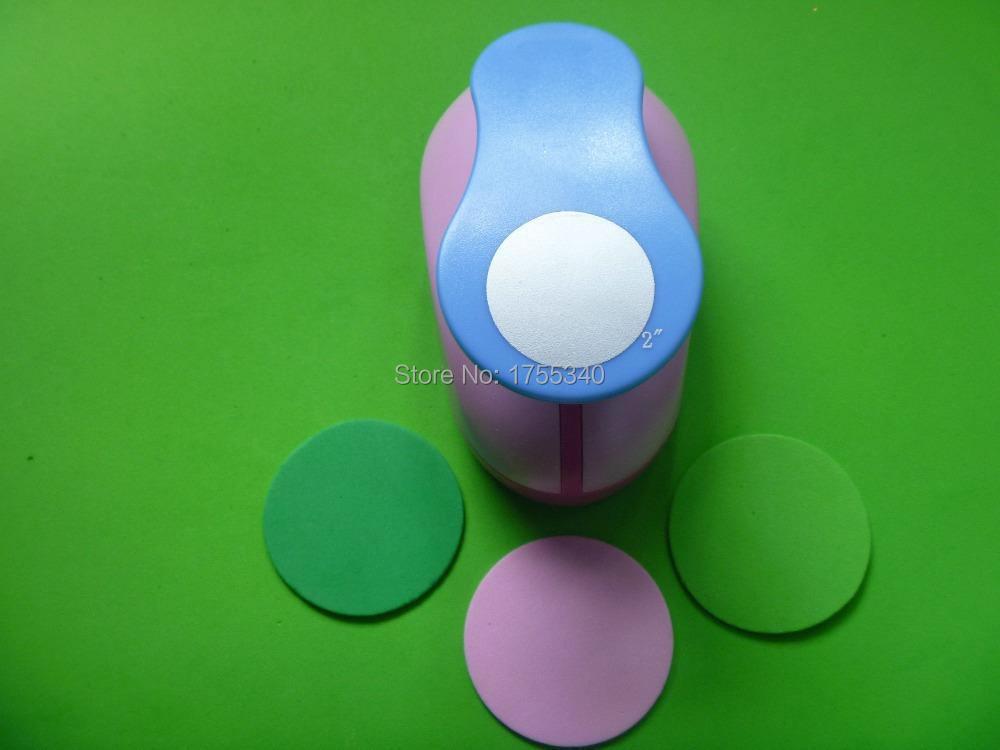 Buy 1pc 50mm Circle Eva Foam Punch Craft Troqueladora De Papel Kids
