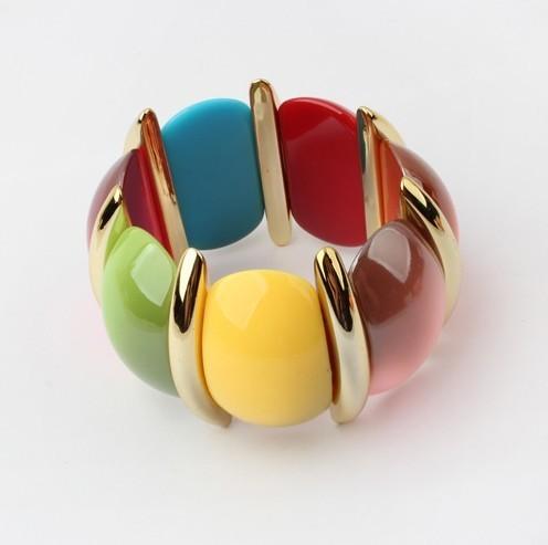 B224 европейский и американский мода цвет тенденция all-матч растянуть браслет! # ...