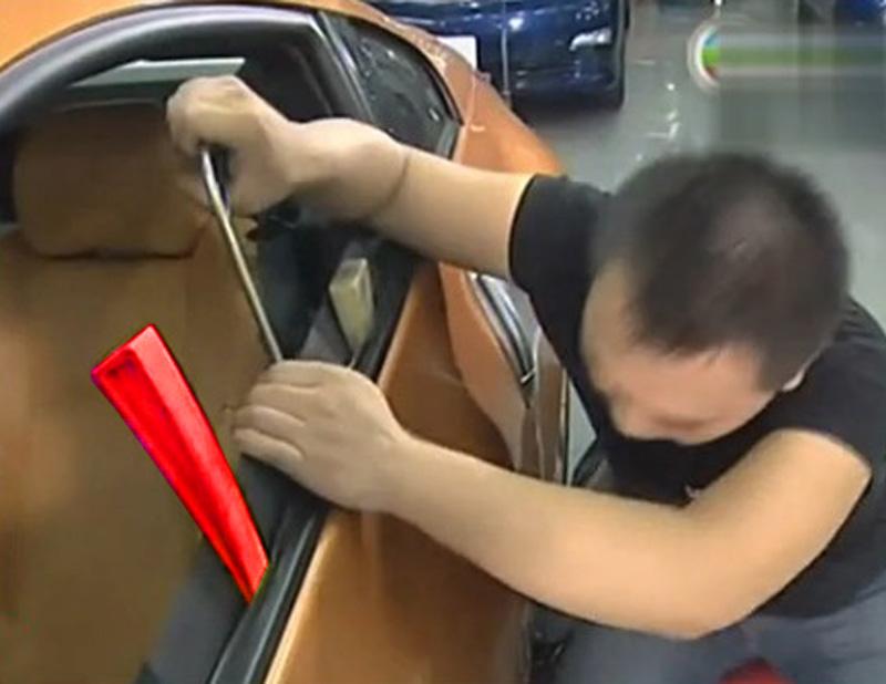free shipping 1 pcs red windows wedge tools assemble plastic wedge kit paintless dent repair tools(China (Mainland))