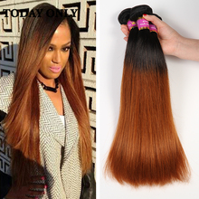 Buy 3 Bundles Malaysian Virgin Hair Soft Silky Straight Ombre Human Hair Weave Malaysian Straight Hair 1b 30 Ombre Hair Extensions for $45.50 in AliExpress store