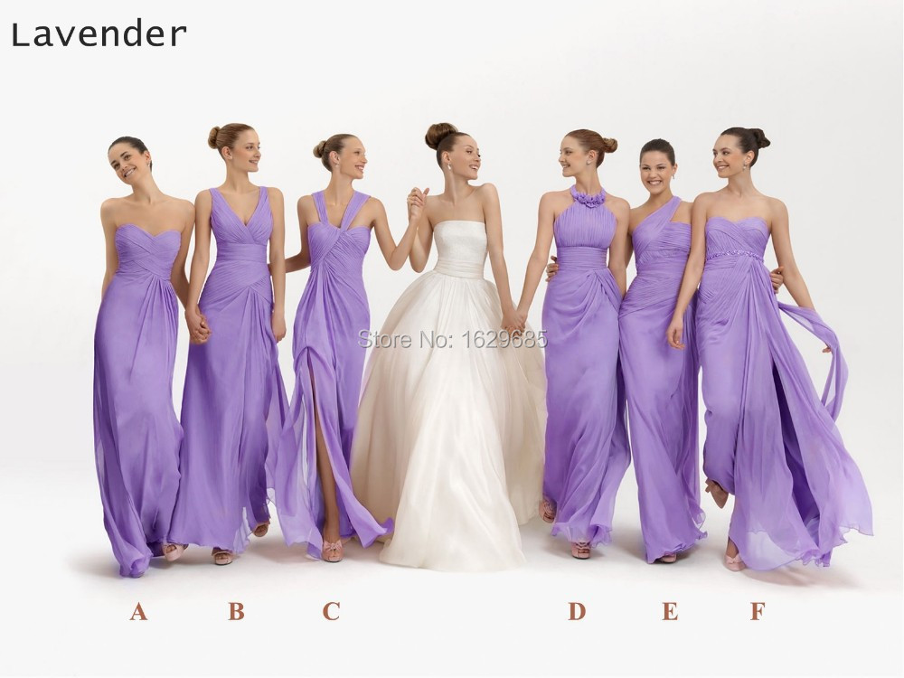 Fashionable 6 Style Blue Purple Pink Green Orange Blue Lilac Lavender Bridesmaid Dresses(China (Mainland))