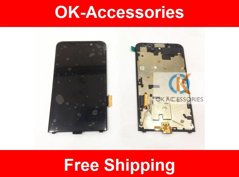 Touch Screen +Frame Full Digitizer+ LCD screen  Assembly for Blackberry  Z30 1 pcs /lot  free shipping