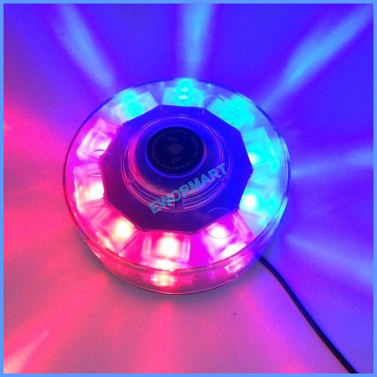 blue 10led car emergency beacon light bar strobe warning lamp 10 led. Black Bedroom Furniture Sets. Home Design Ideas