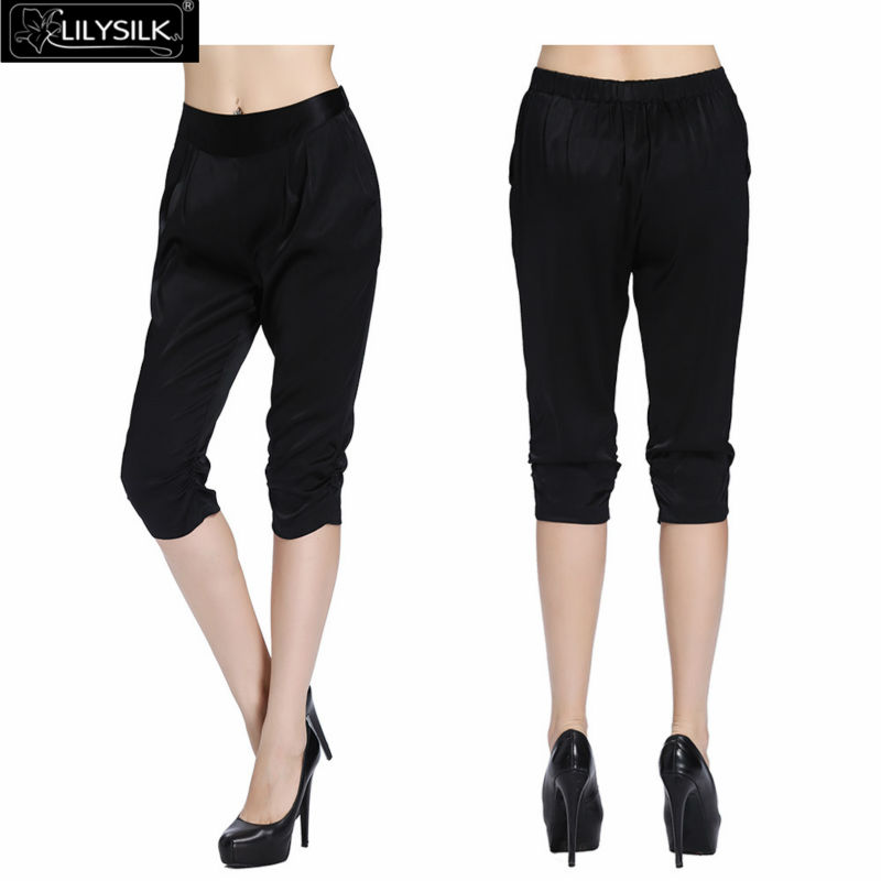 Online Get Cheap Black Silk Capri Pants -Aliexpress.com | Alibaba ...