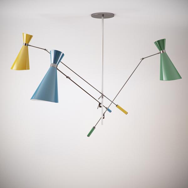 New Nordic IKEA designer AJ angled speakers multicolored chandelier lamp bedroom lamp living room lights restaurant(China (Mainland))