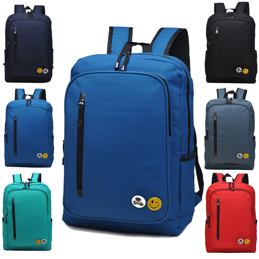 14 inch Smile Nylon Computer laptop notebook Backpack bags case messenger School Travel Backpack for Men Women(China (Mainland))