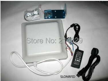 Integrated UHF RFID card reader 8dbi Antenna RS232/RS485/Wiegand of Reading distance 5M long range(China (Mainland))