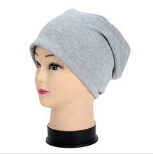 Brand New Women Winter Beanies Cotton Blended Beanie Slouch Warm Hat Festival Unisex Mens Ladies Cap Solid Color Bonnet Hats(China (Mainland))
