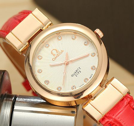 2015 fashion wristwatch women dress watch lady quartz crystal watch leather strap watch clock women Reloj