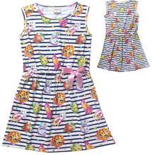 4-14Y New SHOPKINS summer Sleeveless Children's girl dress casual dress cotton girls Vest dress(China (Mainland))
