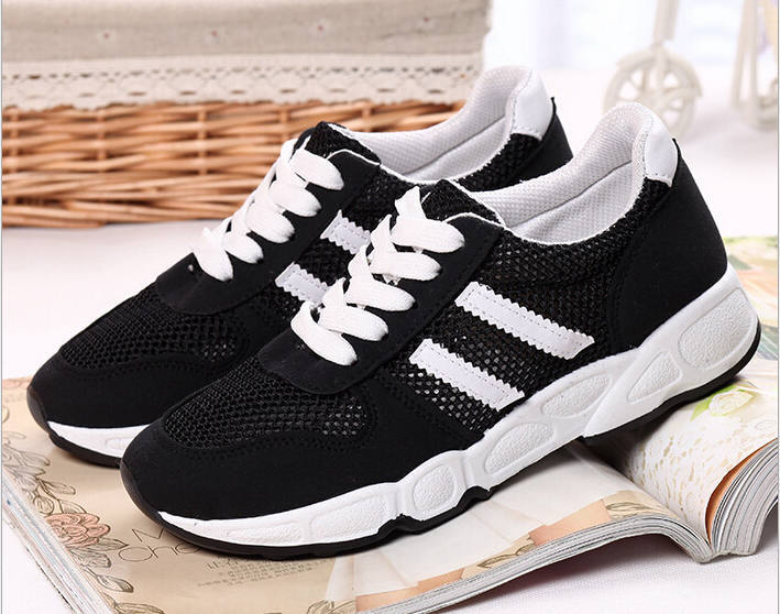 Sports shoes new female breathing 2015 free shipping, sports shoes cheap sales coach Skech walking shoes Women's running shoes(China (Mainland))