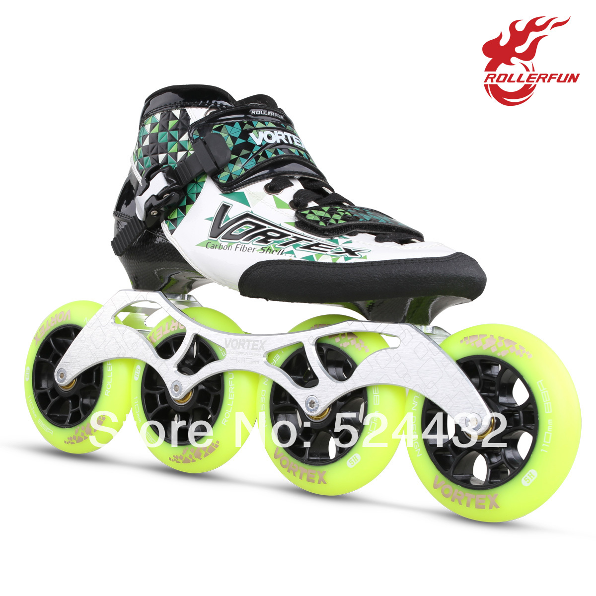 rollerfun rv702 child professional speed skating shoes