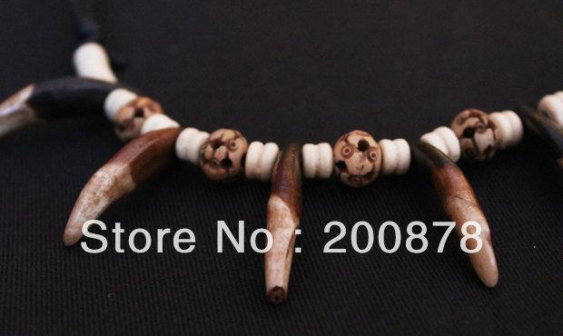 TNL373  Tibetan Yak Bone tooths amulet necklace,best offer<br><br>Aliexpress