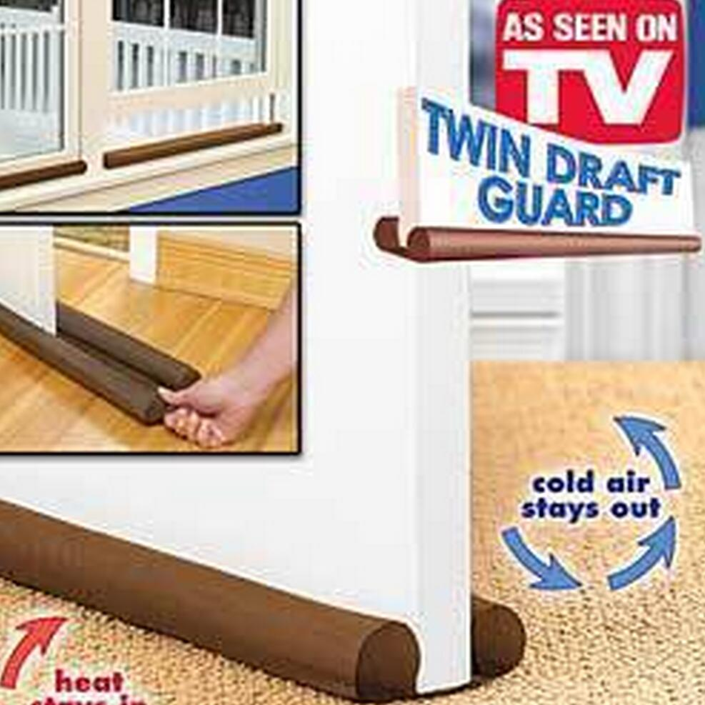 Hot Sale Brown Twin Door Draft Stopper Dual Draught Excluder Air Insulator W indows Dodger Guard Energy Saving