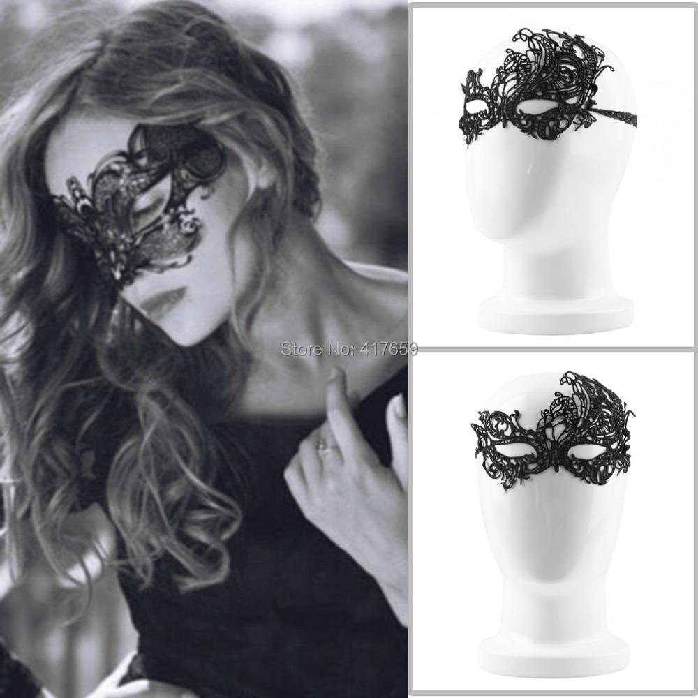 1pc lady Black Vogue Lace Half Face Floral Eye Mask Venetian Carnival Hollow Women Masquerade Fancy Dress Ball halloween mask(China (Mainland))
