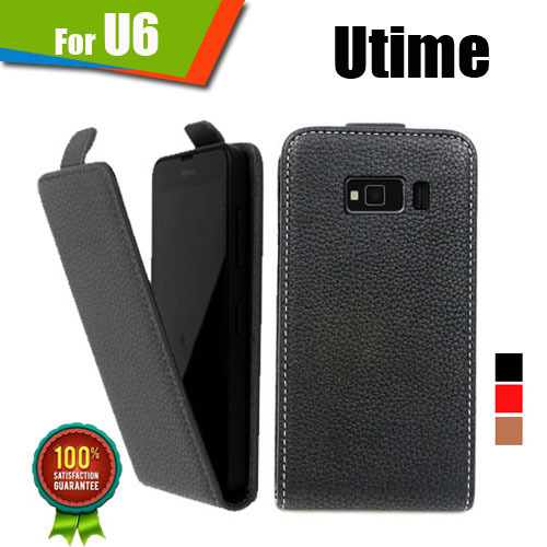 New items 100% Special Case PU Leather Flip Up and Down Case + Free Gift For Utime U6(China (Mainland))
