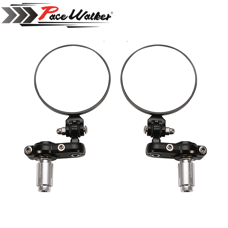 "FREE SHIPPING PACEWALKER MOTORCYCLE BIKE 3"" ROUND 7/8"" HANDLE BAR END MIRRORS REARVIEW SIDE MIRROR(China (Mainland))"
